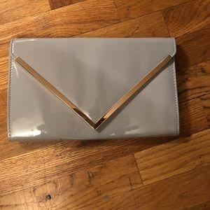 Aldo patent leather clutch/shoulder bag